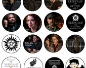 "2 1/4"" Supernatural button pinback. 16 styles to choose from."