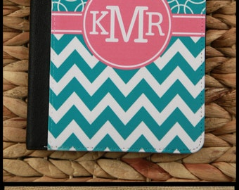 "Monogram Kindle Fire Case Kindle 7"" Case Kindle HD Case Nook Color Case Notebook Folio Case Personalized Custom Electronic Accessories"