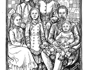 Laura ingalls wilder coloring book for Little house coloring pages