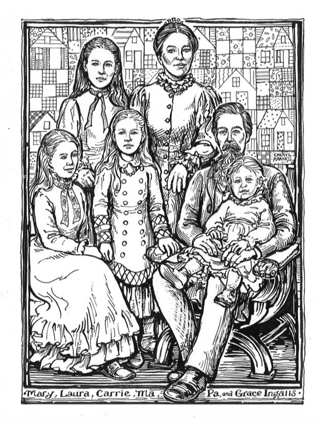 Laura ingalls wilder note cards for Laura ingalls wilder coloring pages