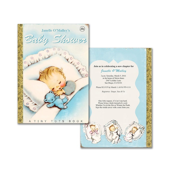 Vintage baby book shower invitation diy baby boy printable il570xn pin it solutioingenieria