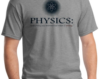 The Nature Of Physics Funny Graduate Student Undergrad Gift Humorous Motivational Clothing Graphic T-shirt Rc14474