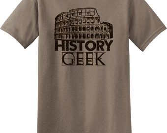 History Geek Funny Gifts For Historians And Amateur History Lovers, Nerdy Humor, Geek Tees, Smart Designs Graphic T-shirt Rc13738