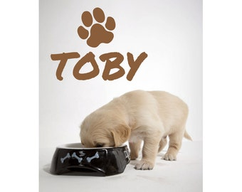 Dog Puppy Name Removable Wall Sticker Decor