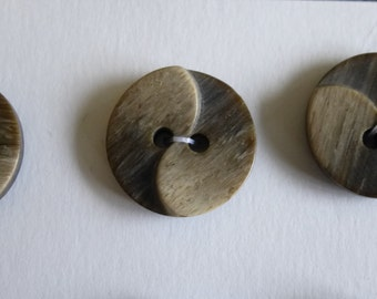 Grey and cream buttons.  Set of 6