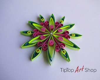 Paper Quilling Snowflake Ornament for Christmas Decoration by TipTopArtShop