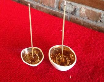 Golden Apple Incense Burner or Dish