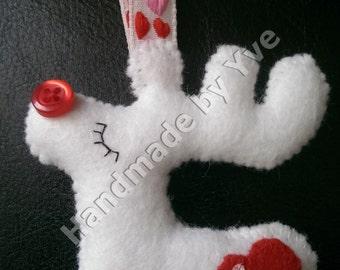 White Rudolph Reindeer Decoration