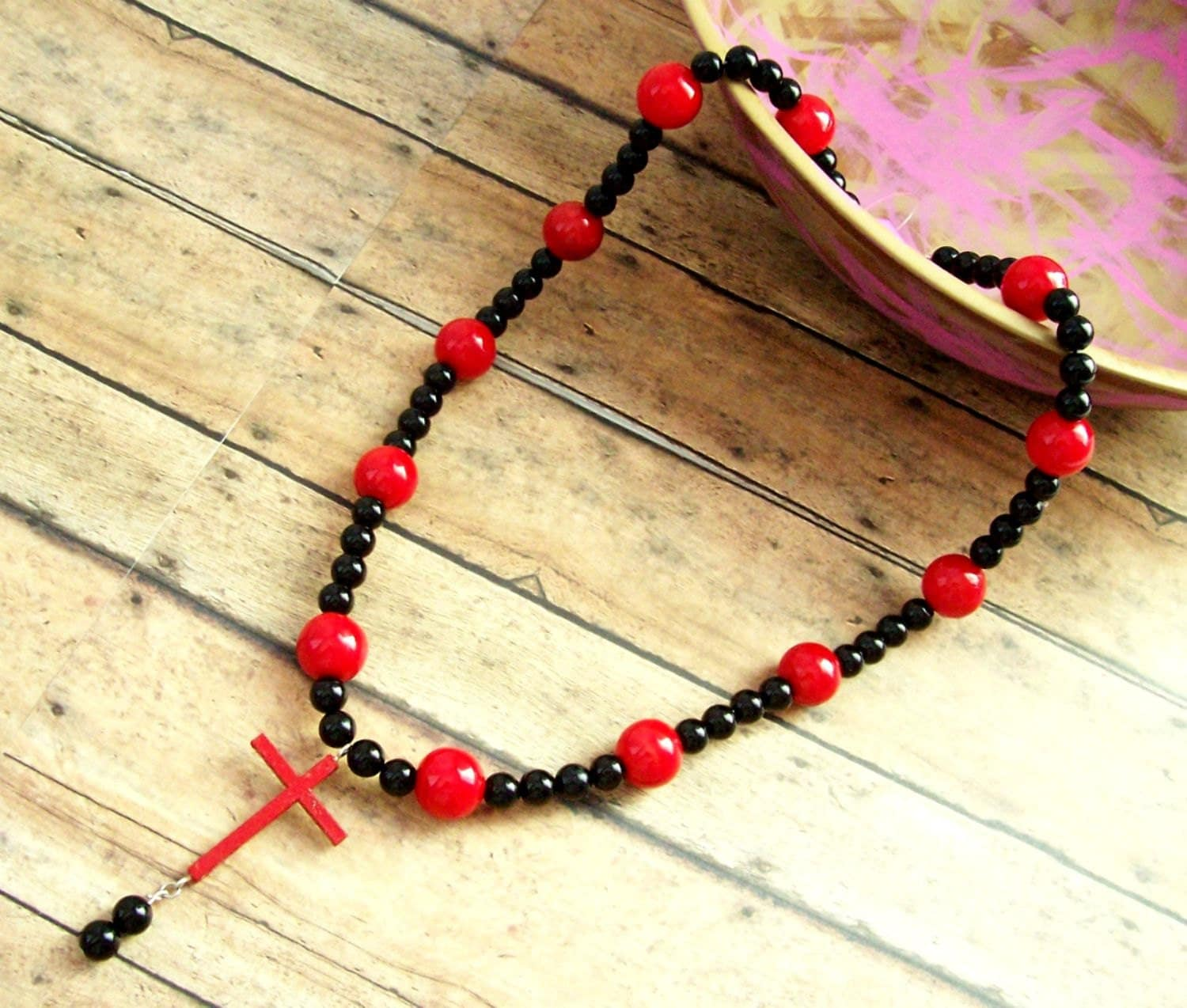 Amazoncom wooden cross necklace