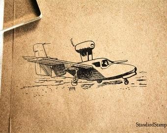 Sea Plane Rubber Stamp - 3 x 2 inches