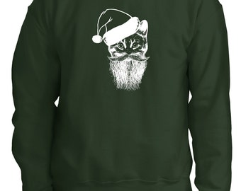 Christmas Ugly Sweater cat lover,Meowy Long Sleeve t- shirt,Sweatshirt Cat Lady,Christmas Gift,ugly Christmas sweater, Christmas shirt,