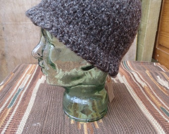 Hand-spun and knitted woolly hats -  naturally dyed Medieval - Stuart style labourer's caps