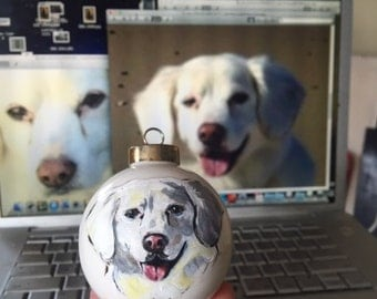 Ornaments, Pet Portrait From Your Photo , Christmas, Gifts