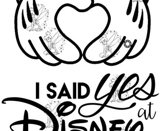 I Said Yes At Disney - DIY Iron On Transfer - Minnie Hands