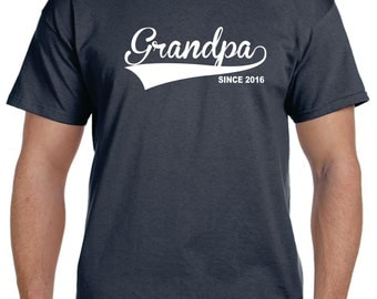 Grandfather Gift Personalized Grandparent Gifts T shirt GRANDPA Gift Since (ANY DATE) Grandpa To Be tshirt Papa Papaw Fathers Day Christmas.