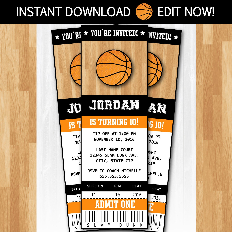 The Best Basketball Birthday Invitations