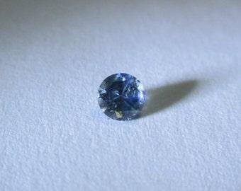 Beatiful deep blue Montana sapphire .15ct. 3mm diamond cut