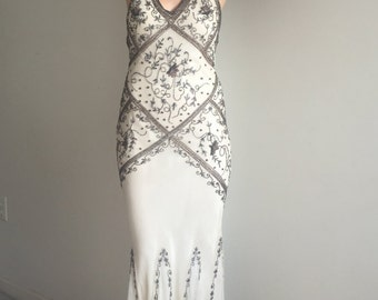 Vintage Beaded Gown