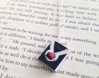 Handmade Twilight Miniature Book Charm Necklace // Stephanie Meyer // New Moon Eclipse Breaking Dawn // Book Lover Gift