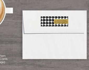 Personalized A2 Envelopes, Custom Return Address for Envelopes, Personalized Envelopes, Houndstooth Personalized Envelopes