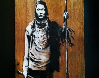 Banksy no trespassing indian street art canvas print