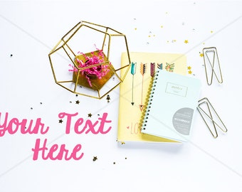 ON SALE Styled Stock Photography / Pink and Gold Theme / Mock Up / Digital Background Stock15