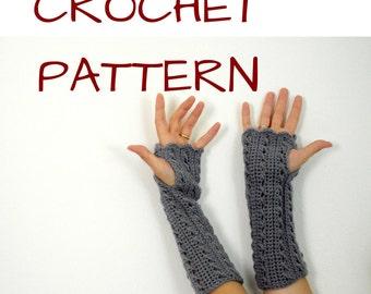 crochet pattern fingerless gloves also for left-handed
