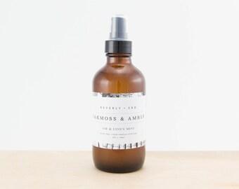 OAKMOSS & AMBER Air and Linen Mist | Scented Room Freshener, Home Fragrance Spray