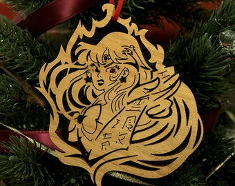 Sailor Moon, Sailor Mars, Mars Christmas Ornament, Anime Ornament, Anime Christmas, Anime gift, sailor moon gift, geek christmas,