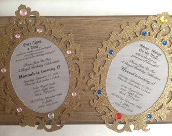 Princess Mirror Invitation Set of 8