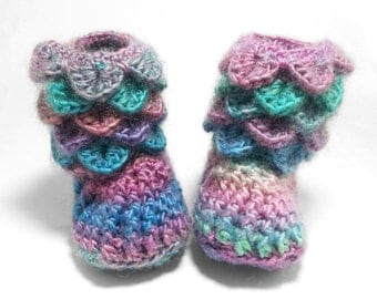 Baby Girl Clothes - Baby Photo Prop - Newborn Baby Booties - Newborn Girl Coming Home Outfit - Baby Girl Shoes - Rainbow Baby Booties