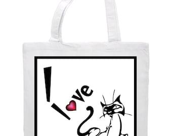 Tote, Bag, Purse, Canvas - Cats