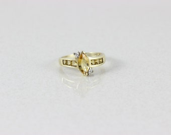 10k Yellow Gold Citrine Ring Size 7