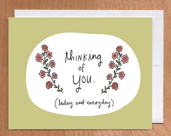 THINKING OF YOU A2 card (2-39C)