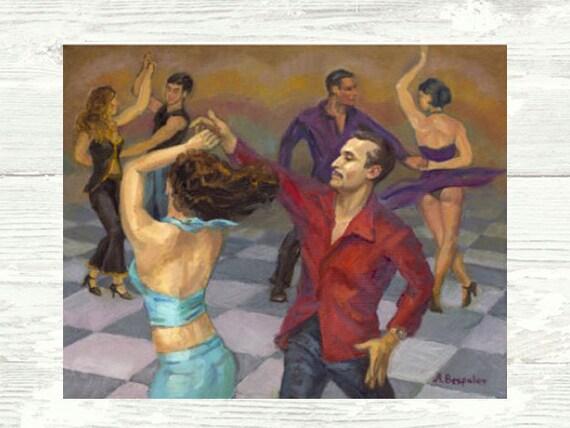 """Salsa Dance Art - """"Smooth Salsa"""" - Dance Art - Poster, Print or Canvas"""