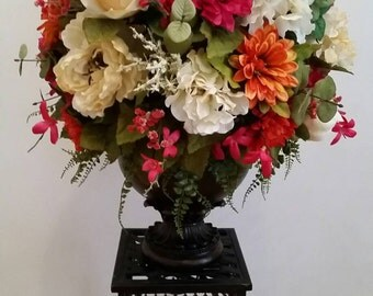 Extra Large Silk Floral Arrangement Transitional Contemporary