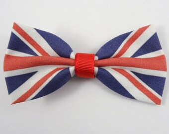 UK Flag Hair Bow