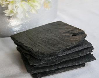 Slate Coasters - Chalkboard Coasters - Reclaimed Slate