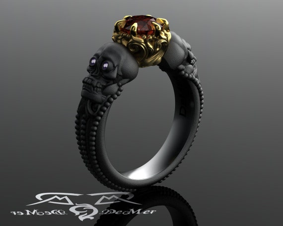 Skull Engagement Ring on Etsy