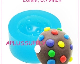 KYL032 Silicone Mold Candy Crush saga - Multicolor 20mm - Cake Decorating Polymer Clay, Silicone Soap Mold Soap Mould Food Safe