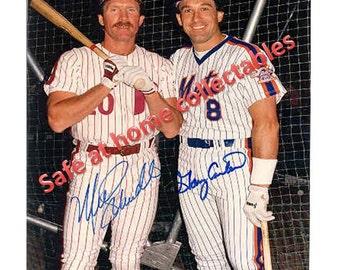 "NY Mets Gary Carter & Philadelphia Phillie Mike Schmidt Signed Color 8x10 Photo Gem Mint ""BEST OFFERS""!!"
