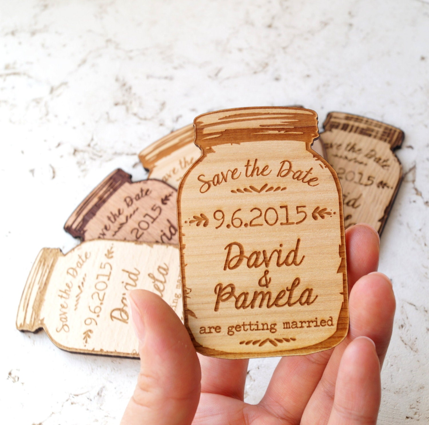 Save the date save the date magnet rustic save the date