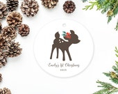 Deer Ornament, Baby's First Christmas Ornament with Deer, New Parents Gift, New Baby Ornament