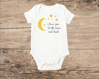 Moon and Stars Bodysuit, I Love You To The Moon And Back