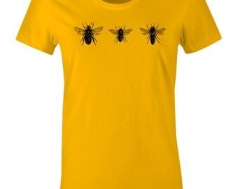 Honey Bee Tee Shirt - Hornet T Shirt - American Apparel Women's Poly Cotton T-Shirt - Item 2363