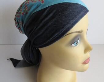 Triangular Headcover / Tichel / Headcovering / Patchwork Handmade Headcovering