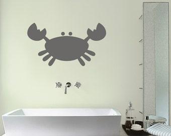 crab bathroom wall sticker crab wall decals childrens bathroom wall stickers sea wall