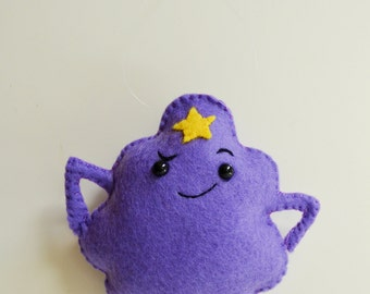 100% Acrylic 'Adventure Time' Inspired Lumpy Space Princess Ornament