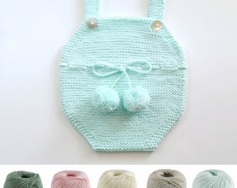 Knit Baby Romper, Knitted Baby Romper, Hand Knit Romper, Baby Romper, Knits For Babies, Baby Knit Bodysuit, Knit Bodusuit, Baby One Piece