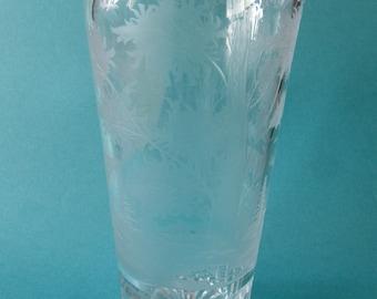 Vintage Engraved Glassware.